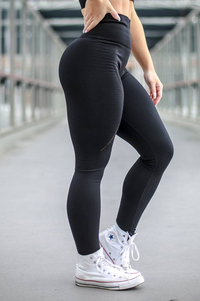 Seamless Leggings without Booty Scrunch - Black