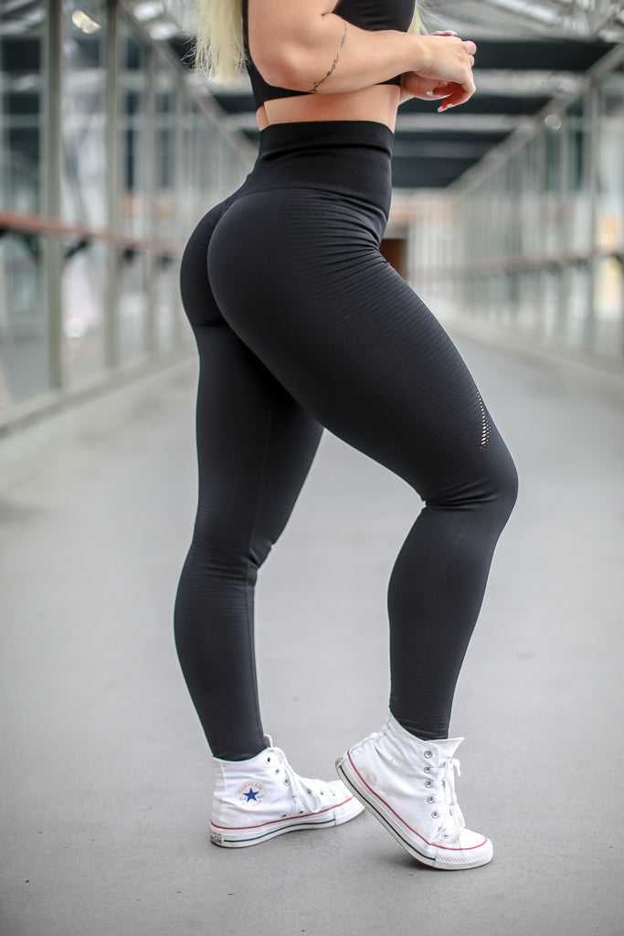 Seamless Leggings with Booty Scrunch - Black