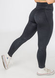 Standard length, high waisted Empowered V4 snakeskin leggings from CNC.