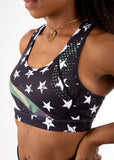 Empowered Laced back Sports bra - Camo Line