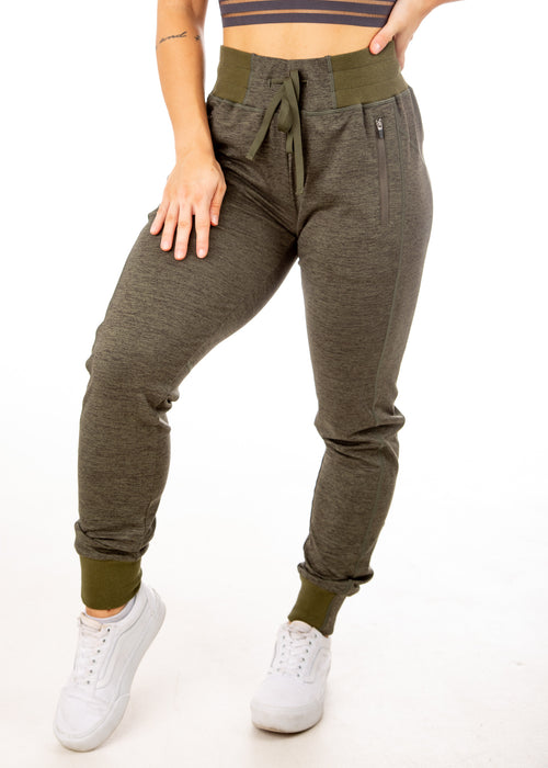 Joggers - Heather OD Green