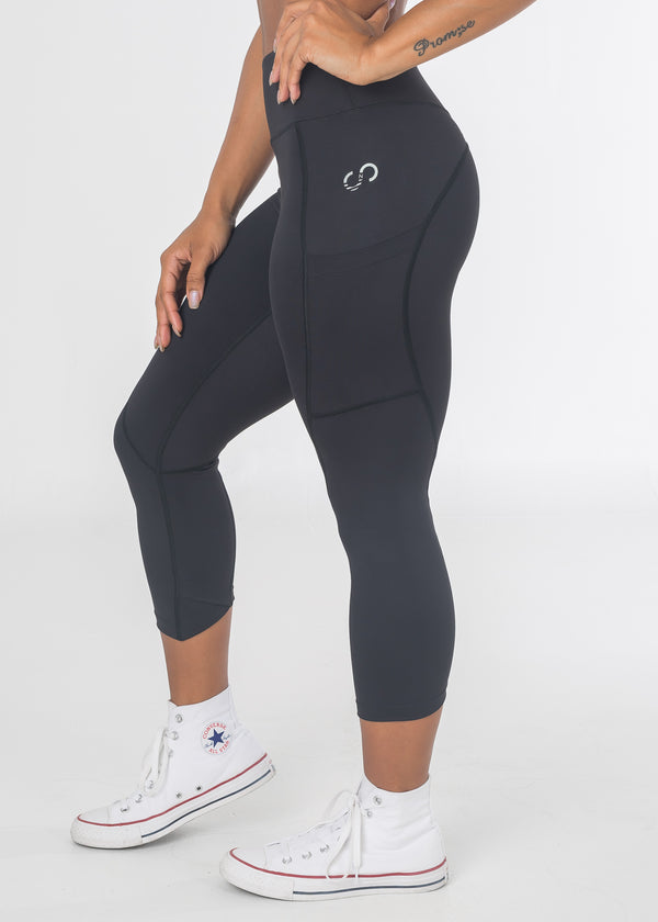 Empowered V1 Capris - Little Black
