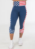 Empowered Capris - Stars & Stripes  Red, White, and Blue