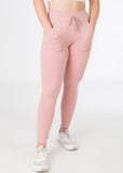 Snug fitting Plush Pink sexy joggers with pockets from CNC.