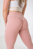 Snug fitting, standard length Plush Pink sexy joggers from CNC.