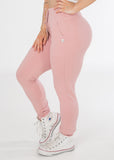 Snug fitting Plush Pink sexy joggers from CNC.