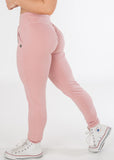 Standard length Plush Pink sexy joggers with pockets from CNC.