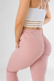 Squat-proof Plush Pink sexy joggers with pockets from CNC.