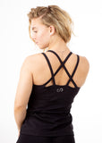 Built in Bra Tank - Black