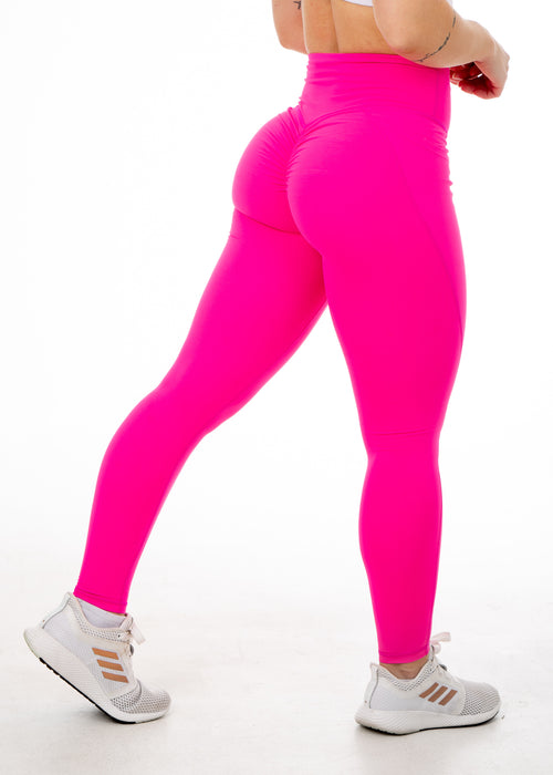 Regal Hot PInk - V4 Booty Scrunch Leggings