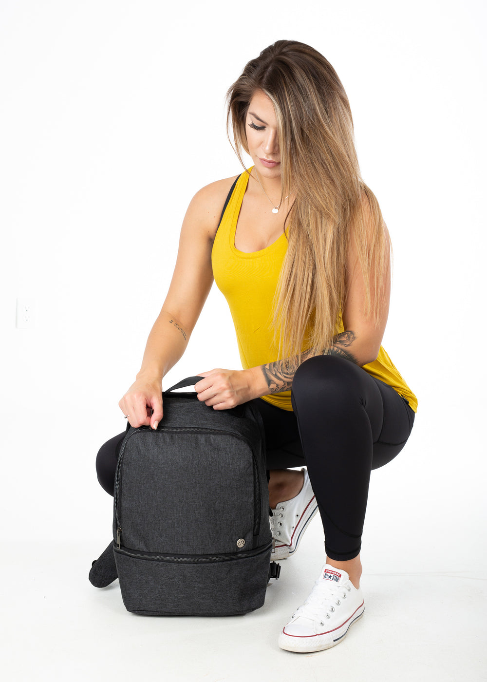 Work-to-Workout Backpack - Heather Black