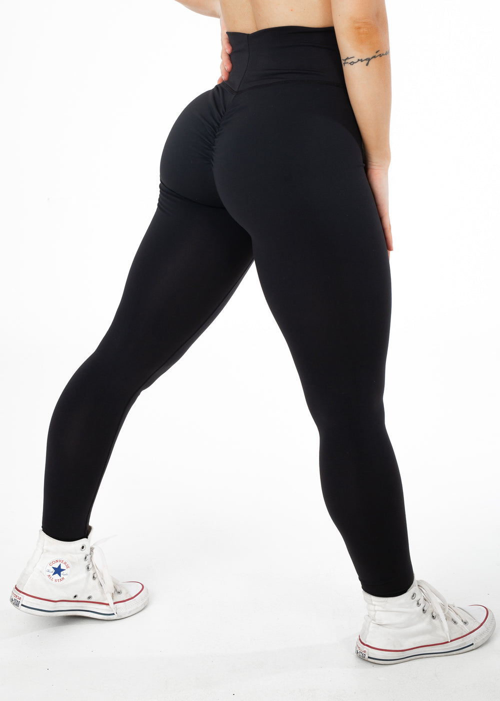Standard length, high waisted executive booty scrunch leggings from CNC.