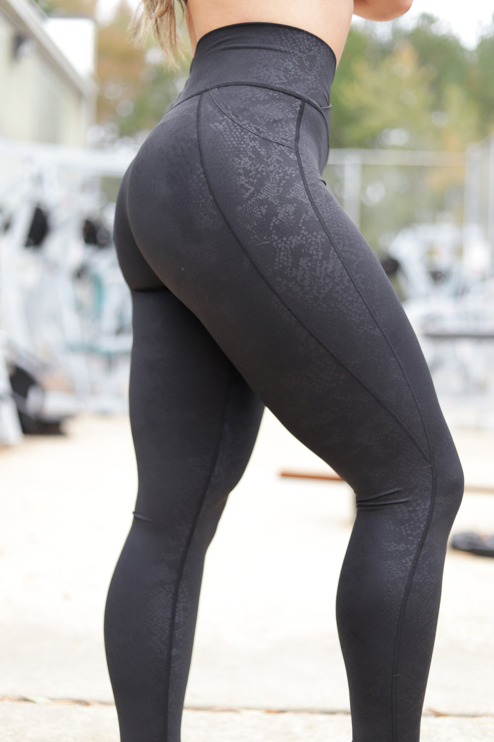 Snakeskin, Black, V4 leggings with pockets