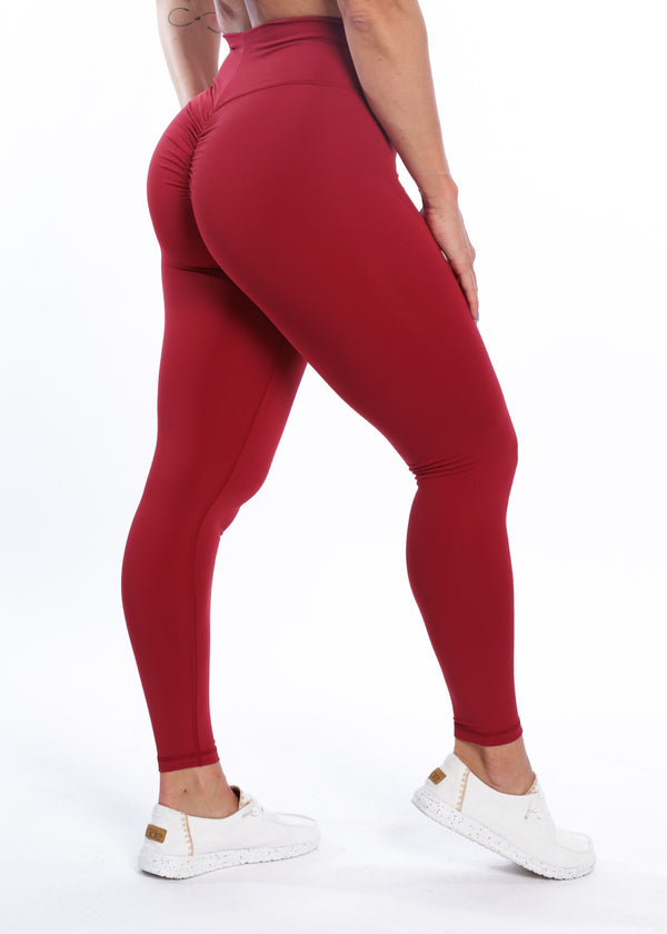 Executive Booty Scrunch - Deep Red