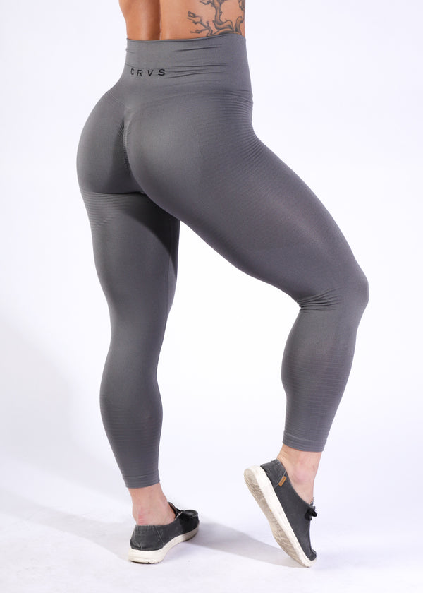Seamless w/booty scrunch - Steel