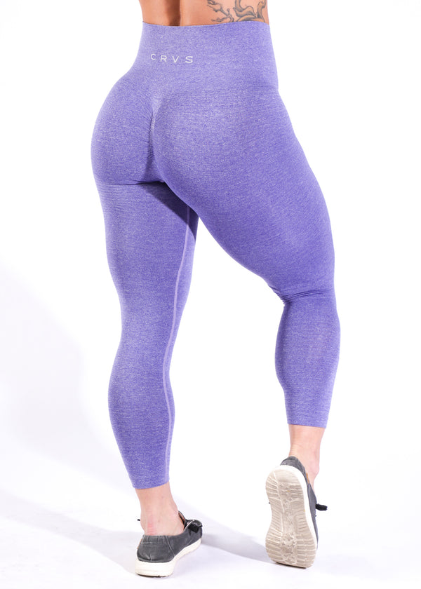 Seamless w/booty scrunch - Heather Purple