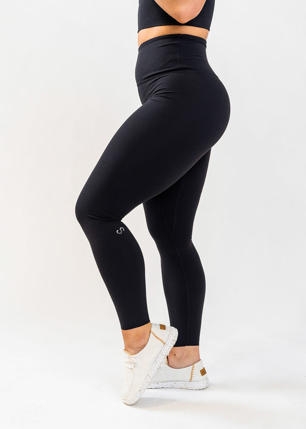 NKD Leggings - Black (WITH TOP SEAM IN WAISTBAND)