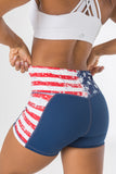 Empowered Shorts - Red, White, and Badass Grundge
