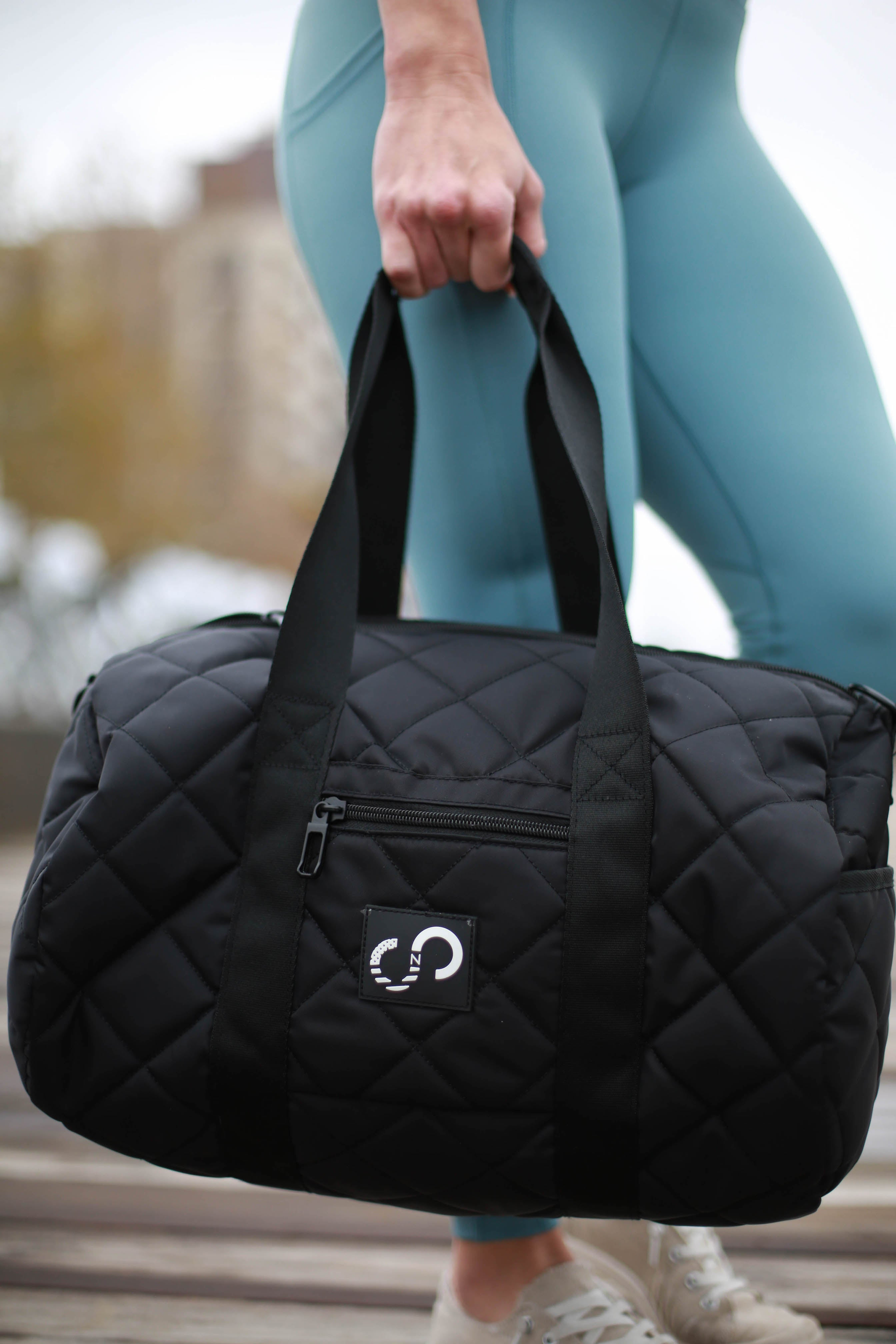 Black Quilted Duffel Bag, LIMITED EDITION