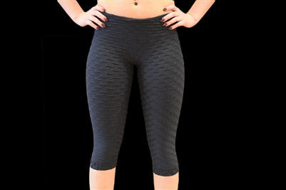 Textured Capri Leggings