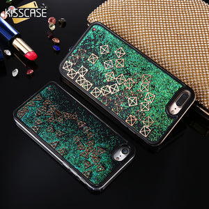 Kisscase Glitter Quicksand Dynamic Liquid Case - kisscase.net