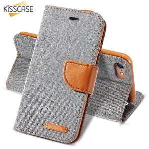Kisscase PU Cloth Stand Wallet Case - kisscase.net