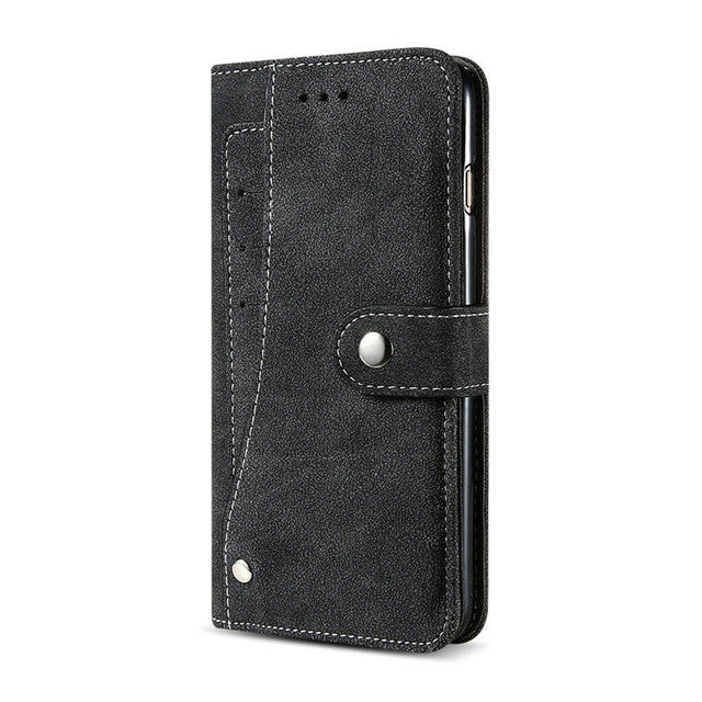 Kisscase Flip Wallet Cover Retro Matte PU Leather - kisscase.net