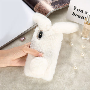 KISSCASE Cute Furry Silicone Fashion Rabbit Hair Soft TPU Back Cover - kisscase.net