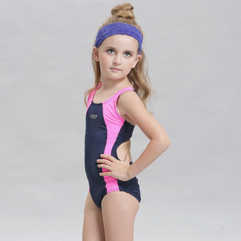 7e1aa5c00533c Children Swimming Clothes Girls Swimwear One Piece Swimsuit Teenager Sport  Suit Beach Swimwear One Piece Bathing Suit for Kids