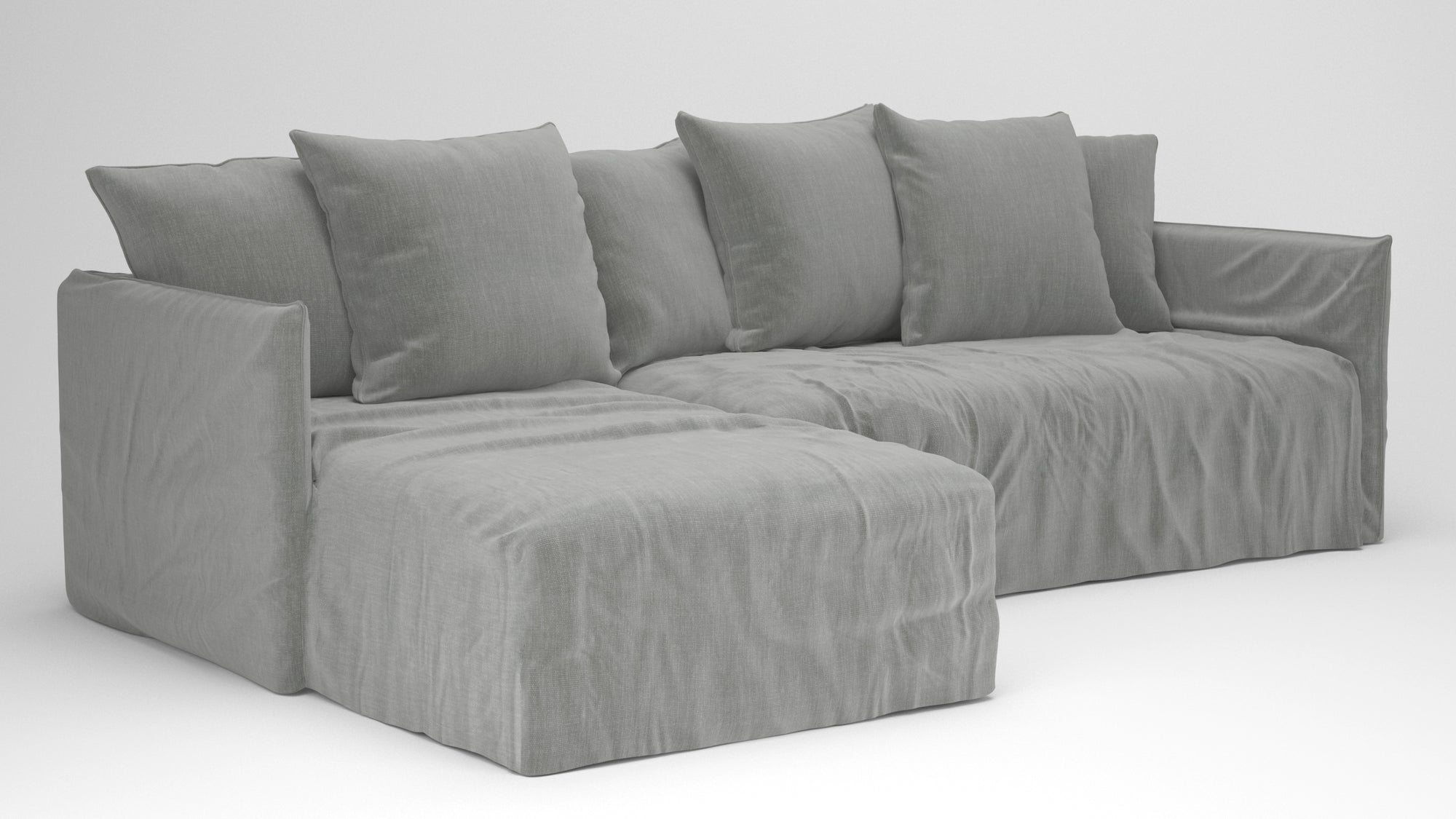 Slade Slipcover Chaise Sofa