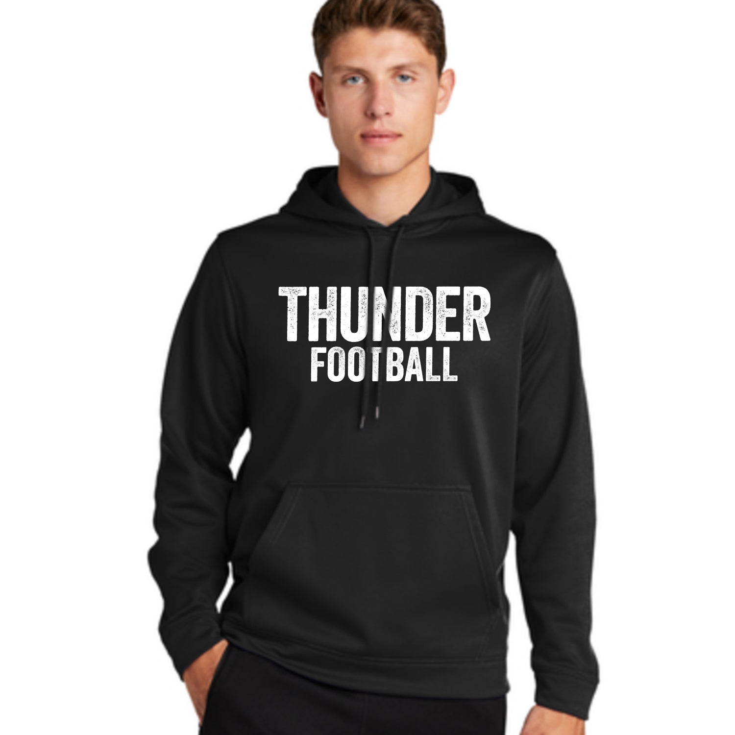 Adult Unisex Thunder Distressed Hoodie