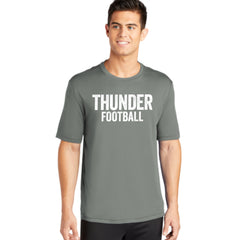 Mens Distressed Thunder Football Performance Tee