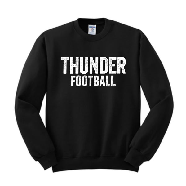Adult and Youth Unisex Crewneck Thunder Distressed Sweatshirt