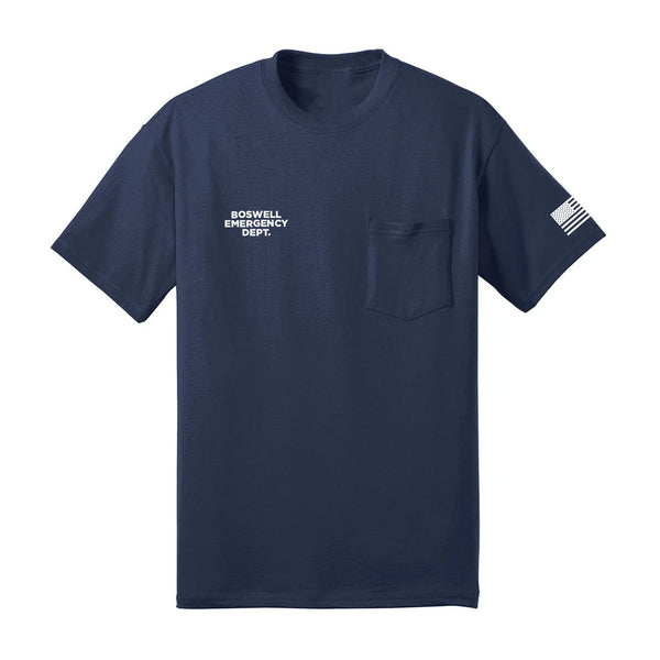 Boswell Emergency Department Flag Pocket Tee