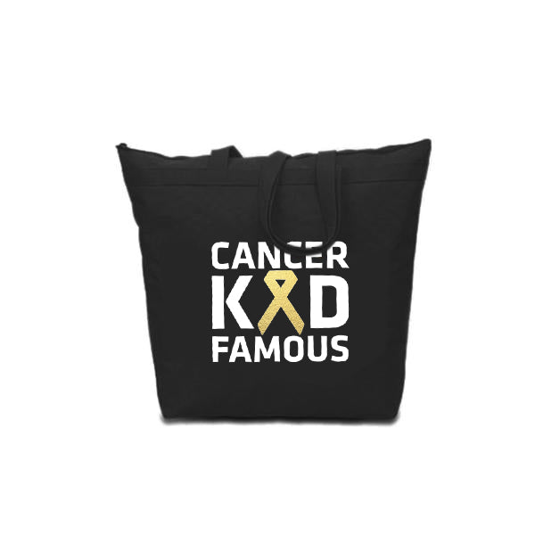 Cancer Kid Famous Large Zip Tote