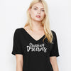 Chasing Dreams V-Neck Slouchy Tee