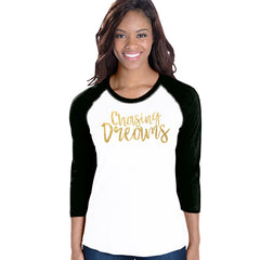 Chasing Dreams Baseball Tee