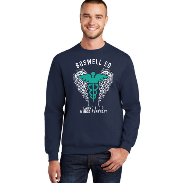 Boswell ED Earns Their Wings Everyday Crewneck Sweatshirt