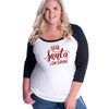 Dear Santa I can explain curvy baseball tee