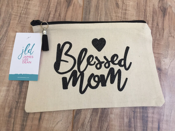 Blessed Mom Makeup Bag