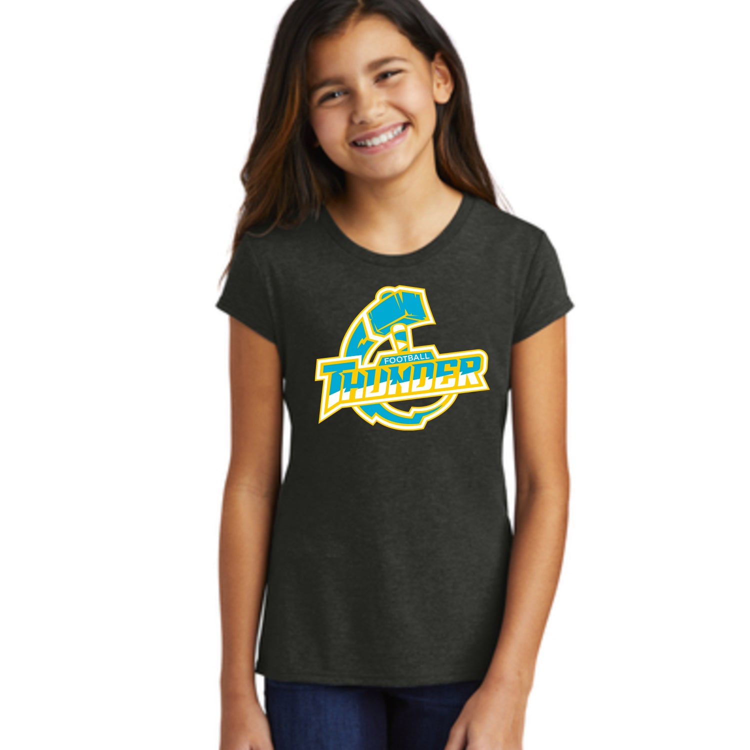 Girls Thunder Logo Tee