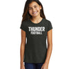 Girls Distressed Thunder Football Tee