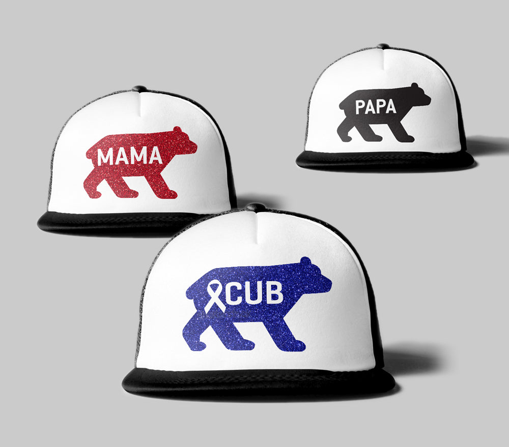 Cancer Kid Famous Family Trucker Hat Set