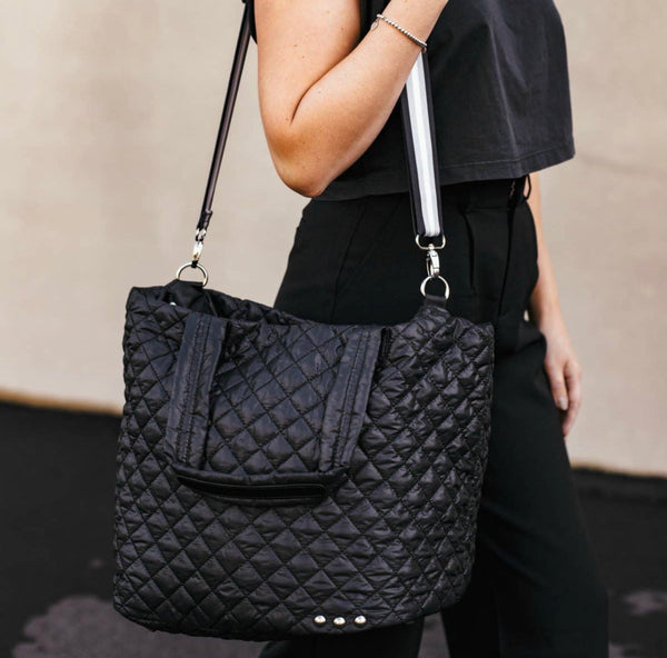 SoHo quilted travel tote