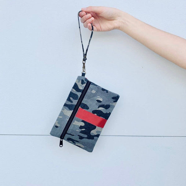 Camo Canvas Clutch/Wristlet