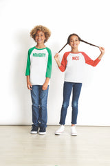 Youth Naughty Baseball Tee