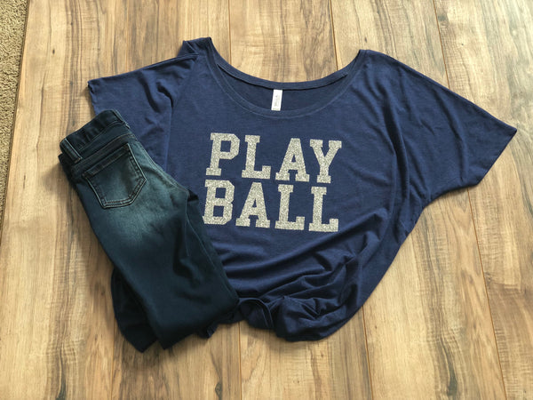 Play Ball Slouchy Tee