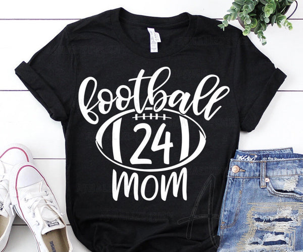 Football Mom Unisex Tee (Ball and Number)