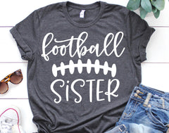Football Sister Unisex Tee (Youth and Adult Sizes)