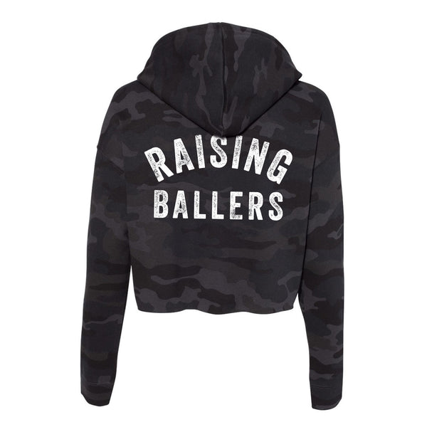 Raising Ballers Cropped Camo Hoodie